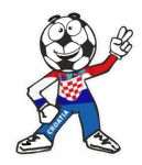 Novelty FOOTBALL HEAD MAN With Croatia Croatian Flag Motif For Football Soccer Team Supporter Vinyl Car Sticker 100x85mm